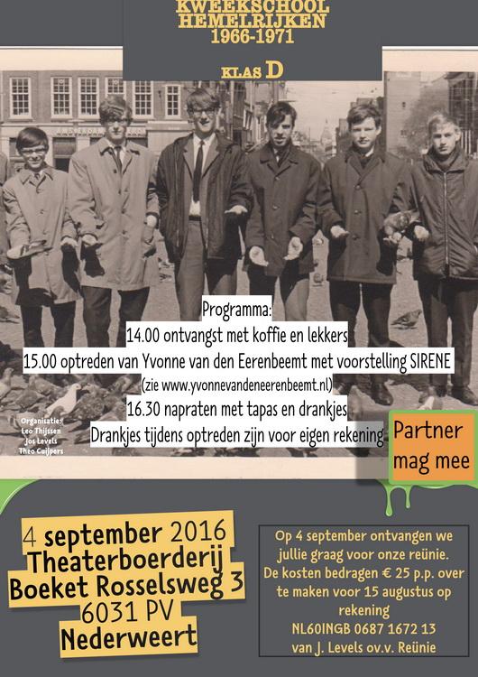 Een bijzondere reünie vindt plaats op zondag 4 september 2016